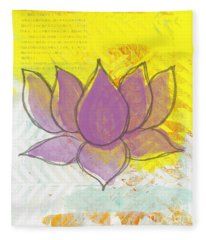 Purple Lotus Fleece Blanket