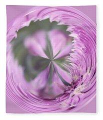 Purple Orb Fleece Blanket