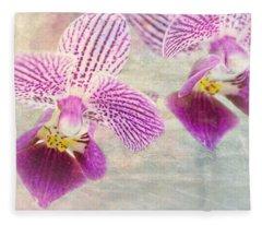 Purple Orchid 2 Fleece Blanket