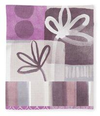 Purple Patchwork- Contemporary Art Fleece Blanket