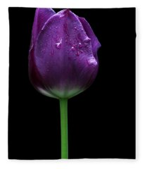 Purple Tulip Fleece Blanket