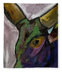 Purple Ugandan Cow Fleece Blanket