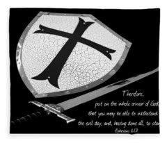 Put On The Armor Ephesians 6 Fleece Blanket