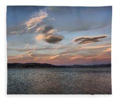 Pyramid Lake Fleece Blanket