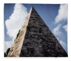 Pyramid Of Rome II Fleece Blanket