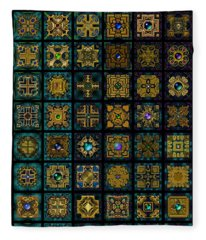 Quadtiles One Dingbat Quilt Fleece Blanket