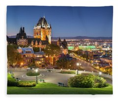 Quebec City Skyline Fleece Blanket