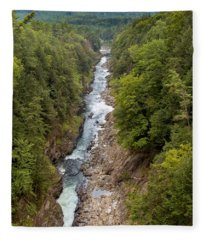 Quechee Gorge State Park Fleece Blanket