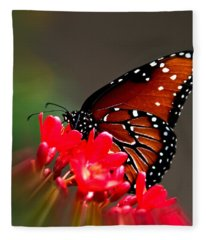 Queen Butterfly II Fleece Blanket