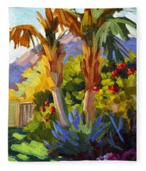 Queen Palms Fleece Blanket