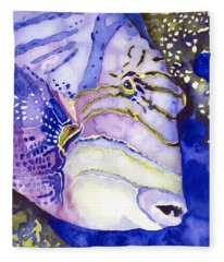 Queen Triggerfish Portrait Fleece Blanket