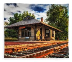Queponco Railway Station Fleece Blanket