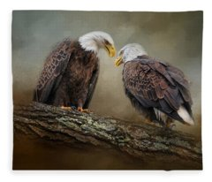Quiet Conversation Fleece Blanket