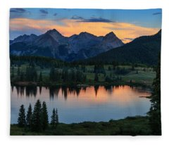 Quiet In The San Juans Fleece Blanket