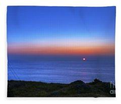 Quiet Morning.. Fleece Blanket