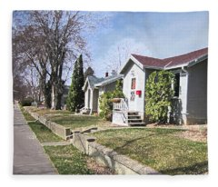 Quiet Street Waiting For Spring Fleece Blanket