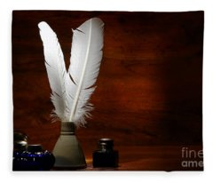 Quills And Inkwells Fleece Blanket