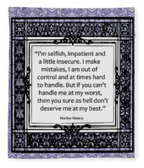 Quote - Marilyn Monroe Fleece Blanket