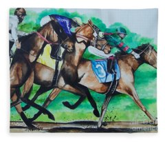 Race Day Fleece Blanket