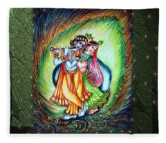 Radha Krishna Fleece Blanket