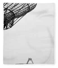 Radiotelescope Antennas.  Fleece Blanket
