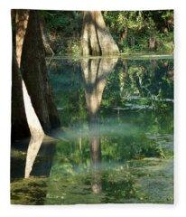 Radium Springs Creek In The Summertime Fleece Blanket