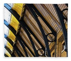 Rafters At London Kings Cross Fleece Blanket