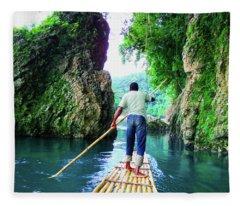 Rafting On The Rio Grande Fleece Blanket