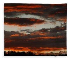 Raging Sunset Fleece Blanket