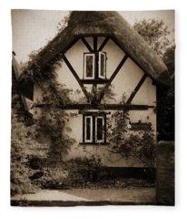 Rags Corner Cottage Nether Wallop Olde Sepia Fleece Blanket