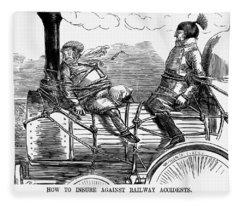 Railroad Safety, 1853 Fleece Blanket