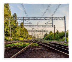 Railway To Nowhere Fleece Blanket