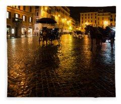 Rain Chased The Tourists Away... Fleece Blanket