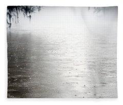 Rain On The Flint Fleece Blanket