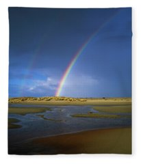 Rainbow Appears Over The Mouth Fleece Blanket