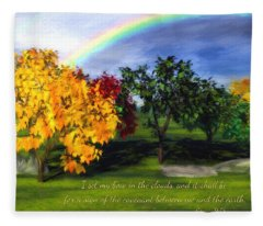 Rainbow Covenant Genesis Fleece Blanket