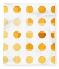 Rainbow Dots Orange Fleece Blanket