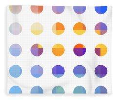 Minimalist Paintings Fleece Blankets
