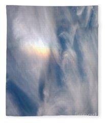 Rainbow Blessings Fleece Blanket