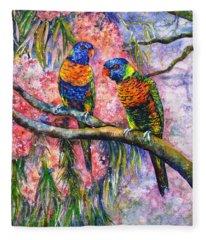 Rainbow Lorikeets Fleece Blanket