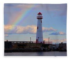 Rainbow Over Watwatam Light Fleece Blanket