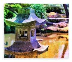 Rainbow Pagoda Fleece Blanket