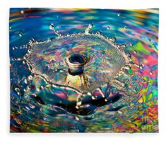 Rainbow Splash Fleece Blanket