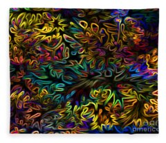 Rainbows In The Forest Fleece Blanket