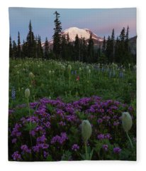 Rainier Pastel Dawn Fleece Blanket