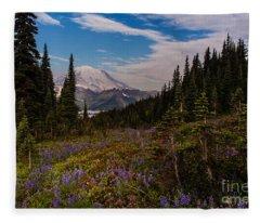 Rainier Tipsoo Wildflowers Fleece Blanket