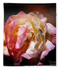 Rainy Rose Fleece Blanket