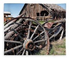 Ranch Wagon Fleece Blanket