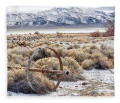 Ranching The Black Rock Fleece Blanket