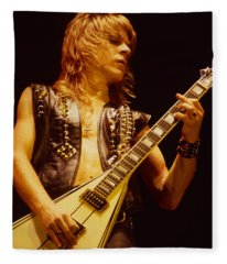 Randy Rhoads At The Cow Palace In San Francisco Fleece Blanket